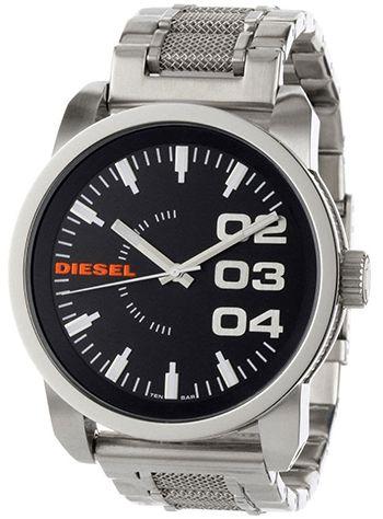 Montre Diesel DZ1370 Homme - Quartz - Analogique - Cadran et Bracelet en Acier inoxydable Argent - Etanche 10 bars