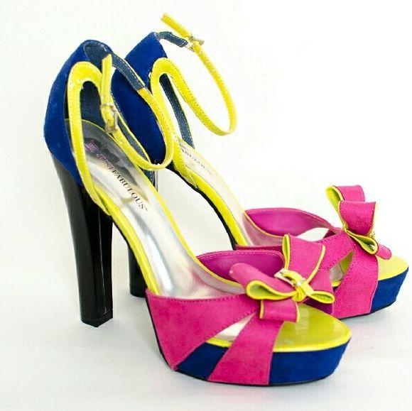 Marc Fisher Womens Platform Pumps Sling Back Heels silvermulti Size 9.0 cmFT