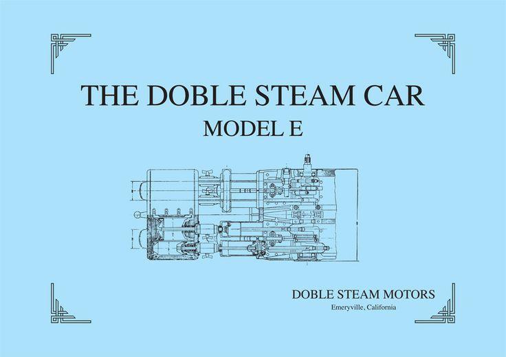 Reprint of very rare Brochure on the Doble Model E Steam Car