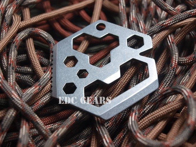 "EDC Gear Multi tool Hex wrench Bottle opener Scraper Stainless steel 2.2"" #EDC"
