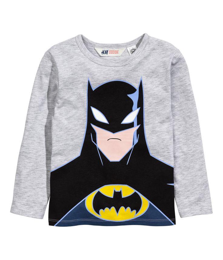 2 camisetas de manga larga | Gris/Batman | Niños | H&M MX