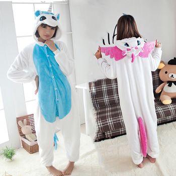 Neue Ankunft Unicorn Pyjamas Winter kawaii Anime Hoodie Pyjamas Cosplay Erwachsene Onesies Weihnachten Kostüm Einhorn Onesies