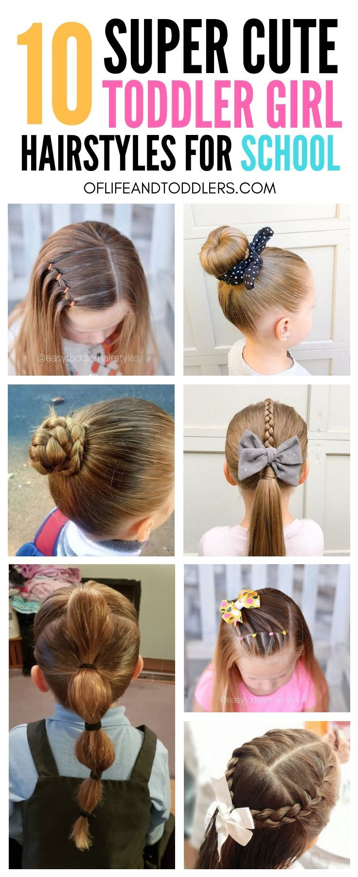 ❤️❤️❤️! Check out these easy toddler girl hairstyles ...