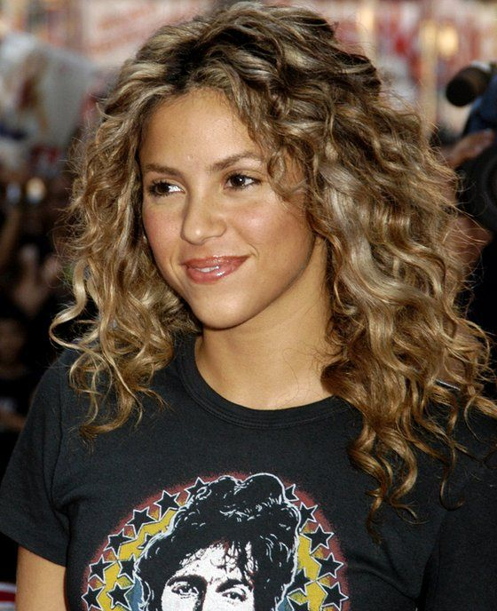Shakira Natural Curly Hairstyle. The goal for my hair-- about this length.