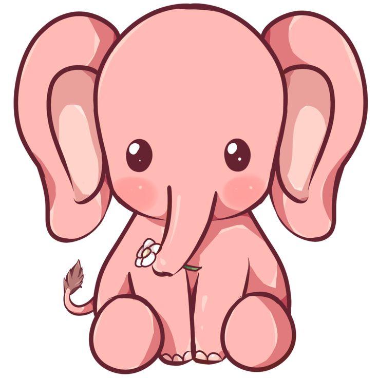 Kawaii Elephant by Dessineka on DeviantArt