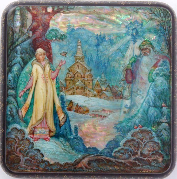Dobrin Eugeney, Kholui lacquer box, Snowmaiden