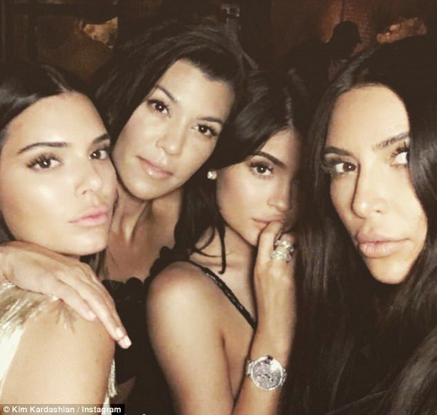 'Waiting to surprise Khloe': While Kim Kardashian and Kylie Jenner were not pictured arriv...