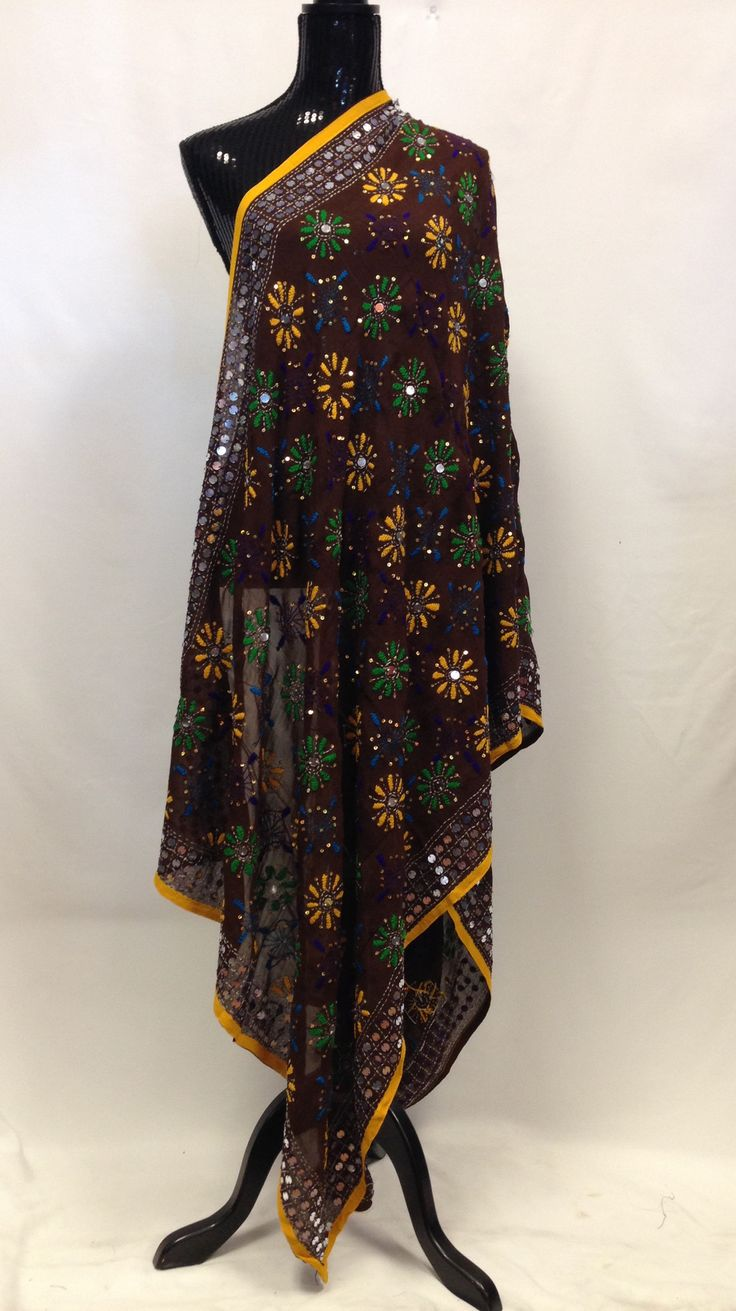 Phulkari Dupatta - Brown