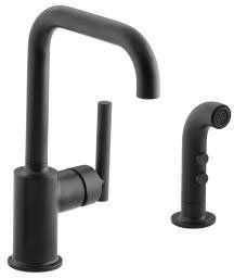 View the Kohler K-7511 Single Handle Bar Faucet with Side Spray from the Purist Collection at Build.com.