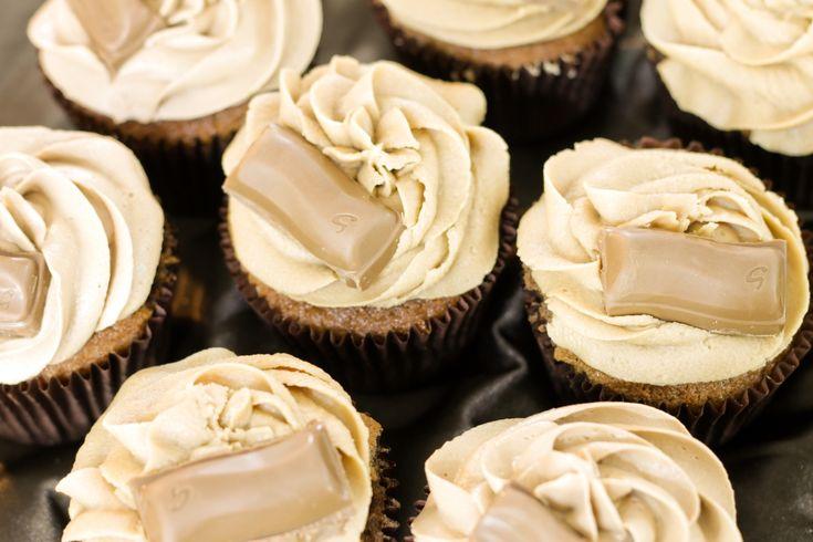 Galaxy chocolate and Galaxy caramel cupcakes