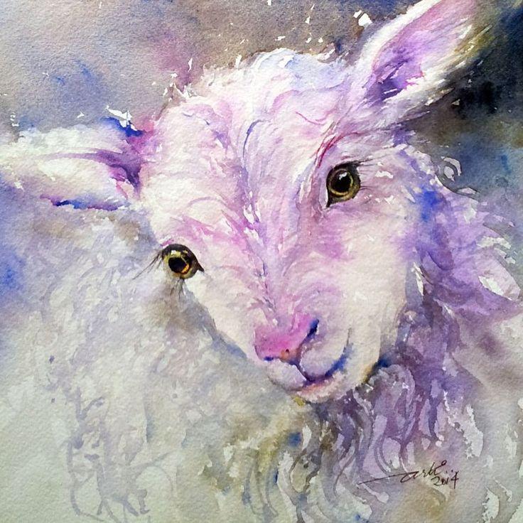 Iris the Lamb Sheep art, Animal paintings, Art