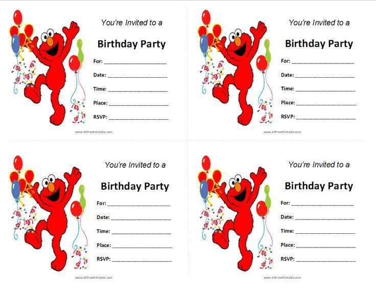 504 best sesame street printables images on pinterest | sesame, Birthday invitations