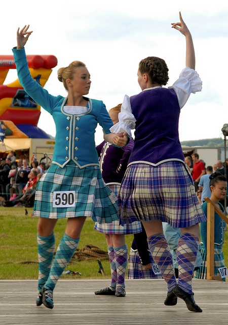 On The Left Kilt With Turquoise Jacket