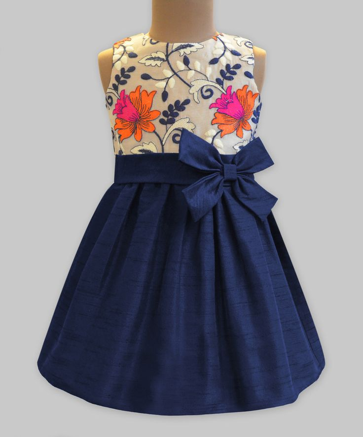 Take a look at this Blooming Lilies Double-Bow A-Line Dress - Infant, Toddler & Girls today!