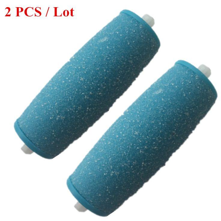2 stücke Blau Ersatz Walzenköpfe Für Scholls Samt Glatte Elektrische Fuß Datei Express Für Pedi Haut Entferner Mit (kein Paket)