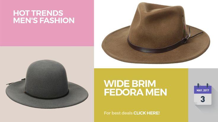 awesome Wide Brim Fedora Men Hot Trends Men's Fashion  Wide Brim Fedora Men Hot Trends Men's Fashion More Deals Details: https://clipadvise.com/deal/view?id=mens-fashion-wide-brim-fedora Best fedora for ...