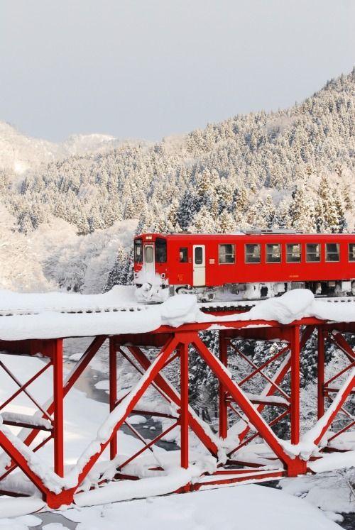 Snow Rail, Akita, Japan