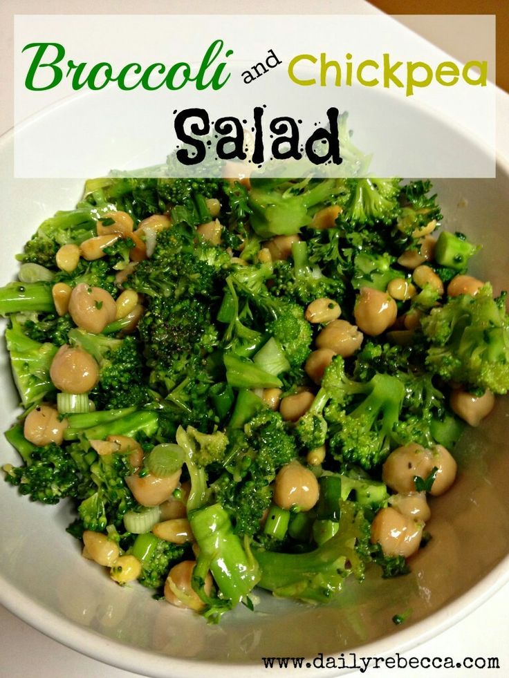 Brocolli and Chickpea Salad