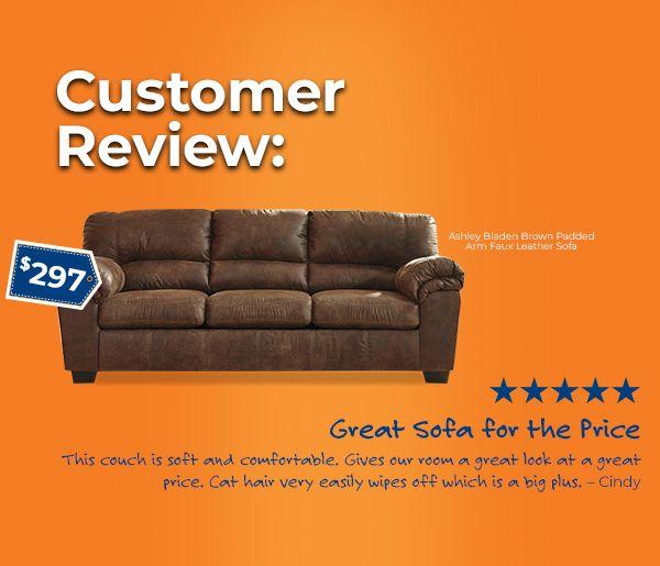 Bladen Sofa Brown Faux Leather Sofa Brown Sofa Sofa