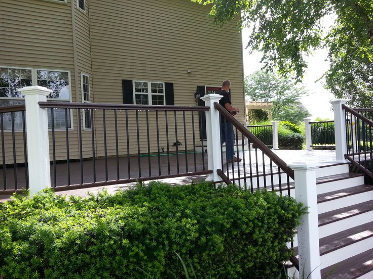 Azek Kona Deck Kona Handrail White Risers And Post