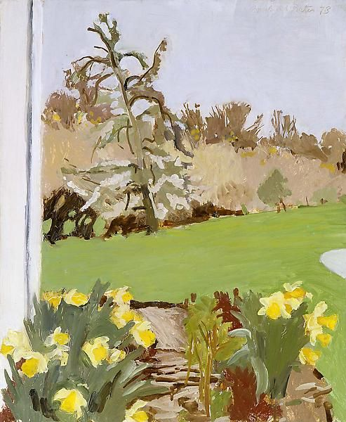 poboh: Daffodils and Pear Tree, 1973, Fairfield Porter (1907 -...