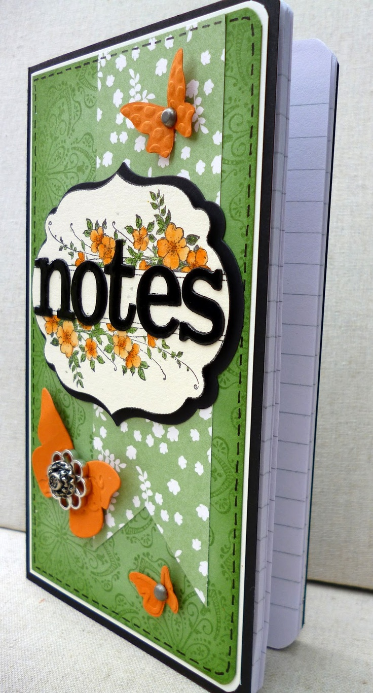 covered notebook - side