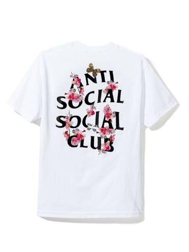 12cd606160b6 Antisocial Social Club DS Auth FW18 Anti Social Social Club ASSC logo KKoch  white Tee tshirt sz XS Supreme kiTh bogo