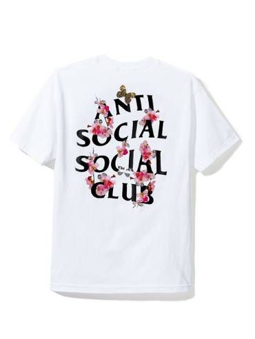 cb7d6a4c3b00 Antisocial Social Club DS Auth FW18 Anti Social Social Club ASSC logo KKoch  white Tee tshirt sz XS Supreme kiTh bogo