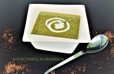 Soupe Verte au Thé Rouge Rooibos (Patate Douce, Courgette, Brèdes)