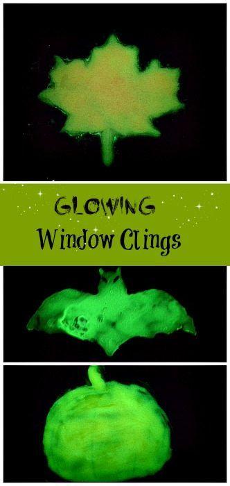 Glow in the dark window clings