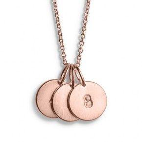 LoveTag-Ankerkette aus rosa vergoldetem Silber - Halsketten