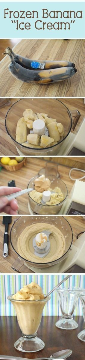 Frozen Banana Ice Cream is a quick and easy recipe - it's great to make and share with your family on a hot summer day.