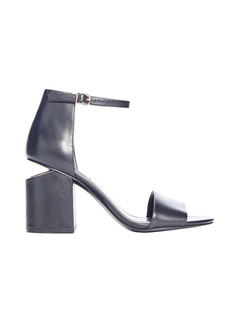 <p>Alexander Wang's Abby Heel is a mid-height heeled sandal featuring signature cut-out heel detail with luxe rose-gold hardware.</p><br /> <p>Alexander Wang is one of New York's most exciting young designers. His superbly crafted womenswear collection features cool downtown chic that is famed for its de facto off-duty dynamic. It's a look that is highly sought after, and has resulted in his creations developing cult-like acclaim within the fashion fraternity.</p>