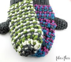 The Sleigh Ride Mittens are lofty, colorful and quick to work up. Chunky yarn in fun colors makes these mittens super warm too! T...
