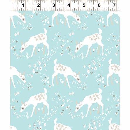 Y2066-101 Woodland Gathering Deer on Blue