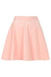 Pink Baby Cord Skater Skirt
