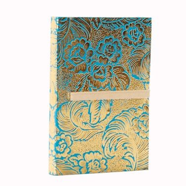 This Carolyn Donnelly Eclectic hardback notebook features a textured foil finish and lined paper