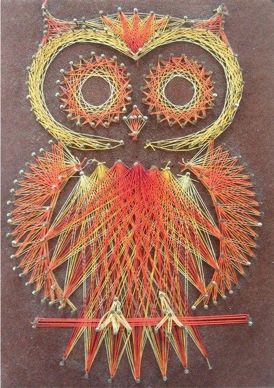 Owl String Art  Créatif, Art filaire et En aucune façon
