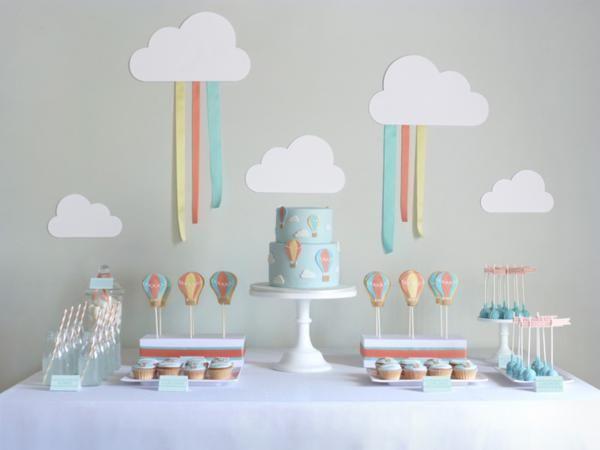 Hot Air Balloon Party via Kara's Party Ideas karaspartyideas.com #hot #air #balloon #party #ideas