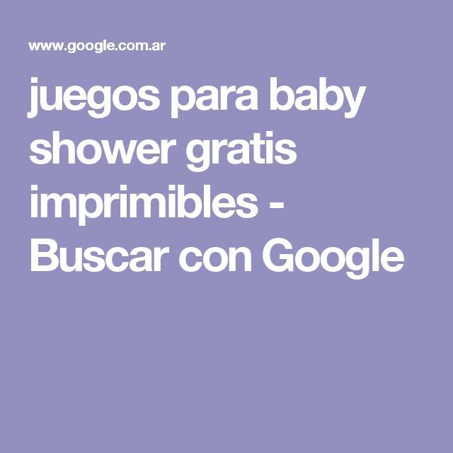juegos para baby shower gratis imprimibles - Buscar con Google