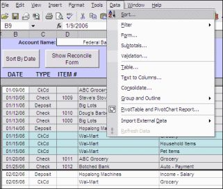 Free Excel Check Register @ Moneyspot.org