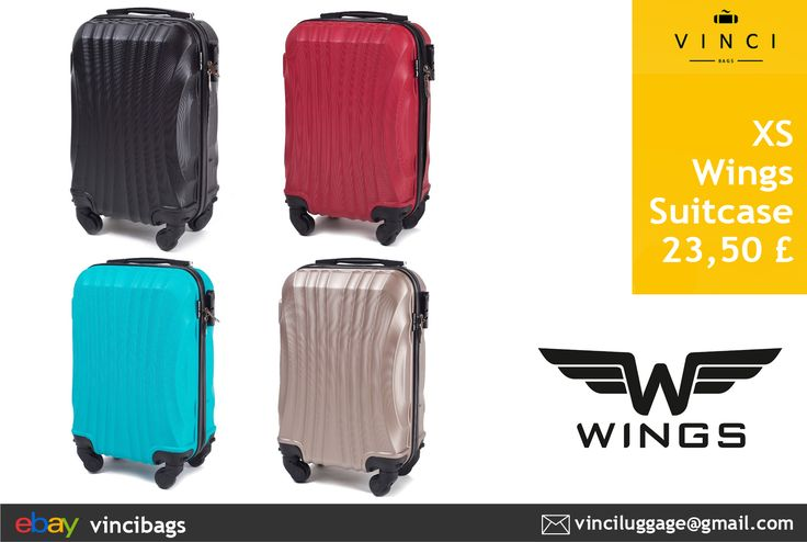 Traveling with Wizzair or Ryanair? We have great lightweight suitcases suitable for cabin luggage! Products of WINGS company are designed for the most demanding customers. Modern, super lightweight model made of very durable and scratch resistant ABS Plus with telescopic and ergonomic handle.  #airtravel #airplanebag #luggage #wings