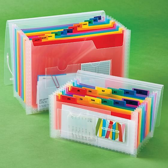 Clear 13 Pocket Accordion Files In 2019 The Container