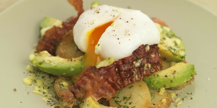 Potato salad gets an update with crispy pancetta, ripe avocado and poached duck egg. Geoffrey Smeddle's warm potato salad recipe is a delicious mix of flavours.