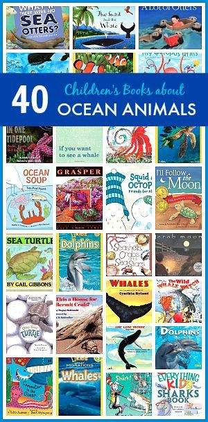 40 Children's Books about Ocean Animals~ Buggy and Buddy