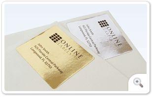 Foil Inkjet Labels