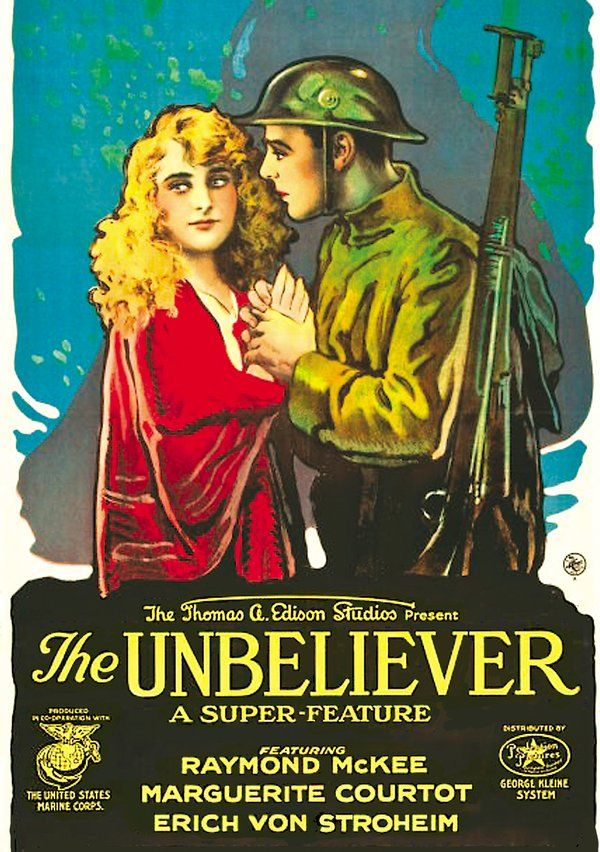 The Unbeliever DVD-R (1918) Directed by Alan Crosland; Starring Marguerite Courtot & Raymond McKee; Alpha Video | OLDIES.com