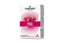"""Εικόνα του """"Superfoods Pomegranate Συμπλήρωμα Διατροφής με Ρόδι , 30 caps"""""""