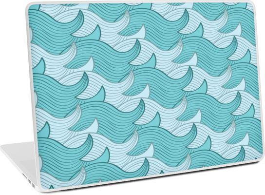 California Surf Wave Pattern Illustration by Gordon White | Heather Grey California Surf Macbook Pro 15 Laptop Skin Available @redbubble --------------------------- #redbubble #stickers #california #losangeles #la #surf #wave #cute #adorable #pattern #laptop #skin #laptopskin #macbook