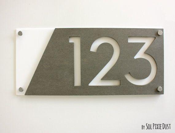 Dies ist ein Custom-Hausnummern - Plakette